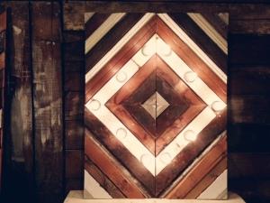 Wood Trim Panel with Lights