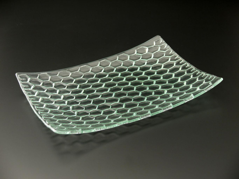 RectanglePlatterClearChichenWireRecycledglassworks